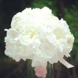 Here's the dirt…peony bouquet.